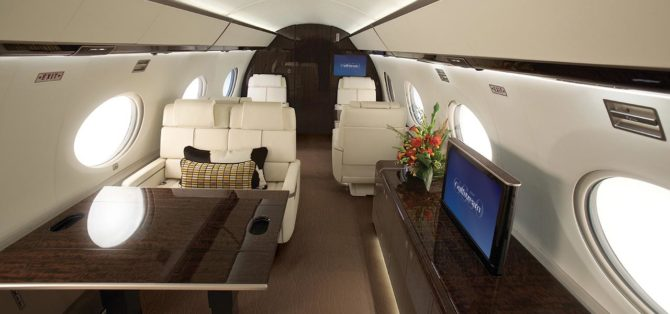 The G650 Also Provides The Latest In In Cabin Technology. The Touch Control  Entertainment System Features A BluRay/DVD/CD Player, Two Large HD LCD  Monitors ...
