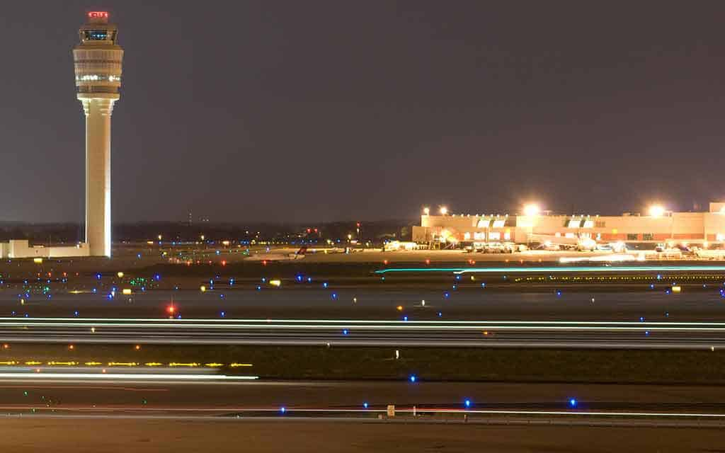 Atlanta Airport - Air Traffic Control Tower at Night