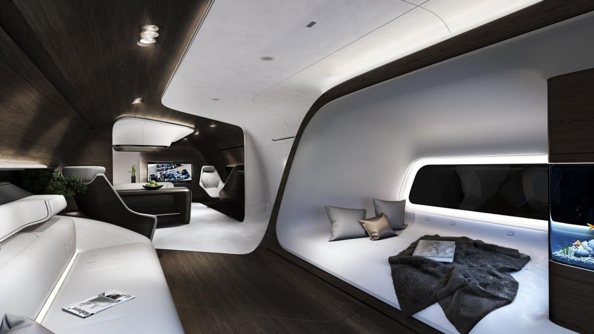 Great Lufthansa Mercedes Airplane Interior