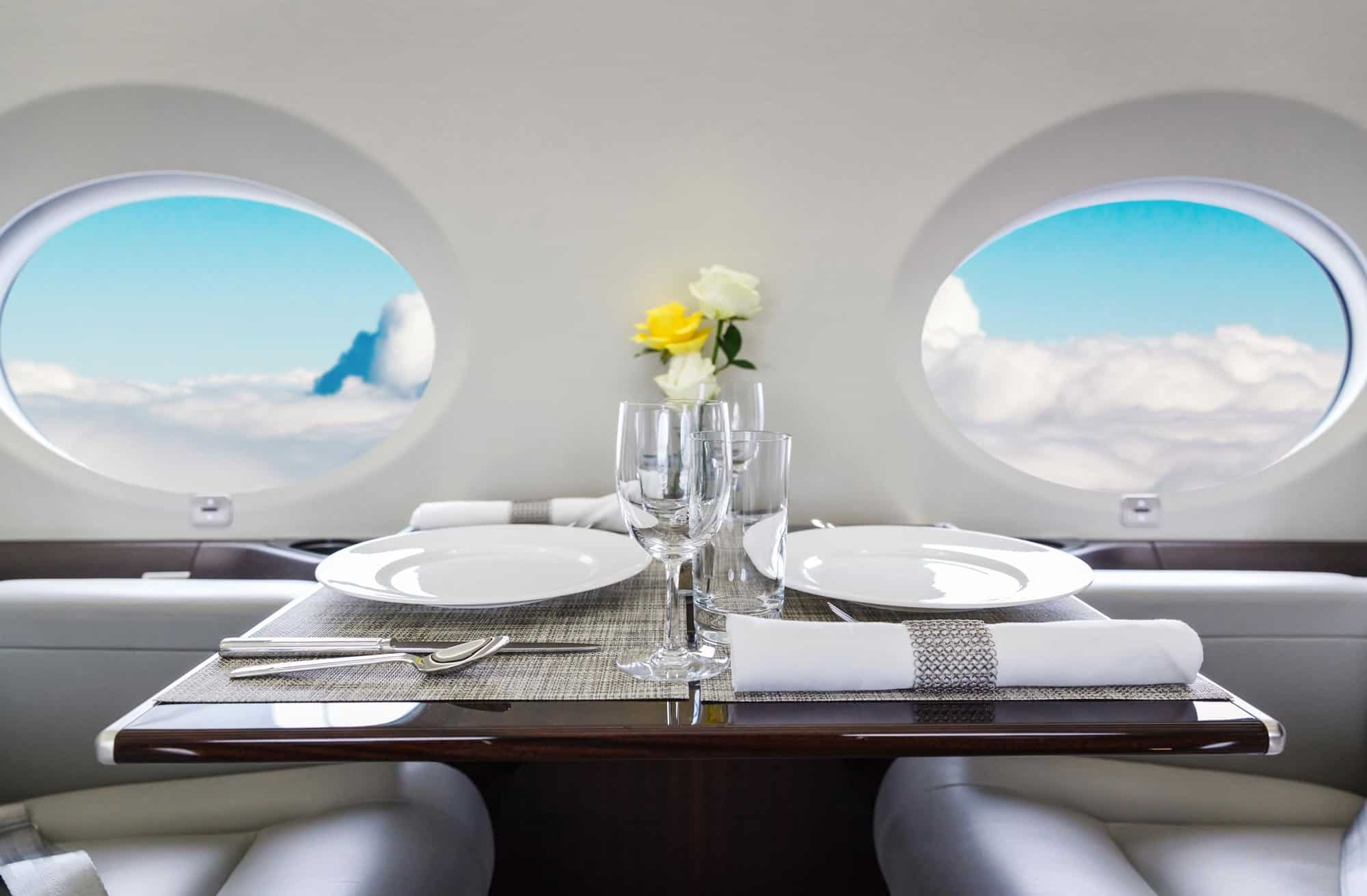 Valentine's Day on a Private Jet