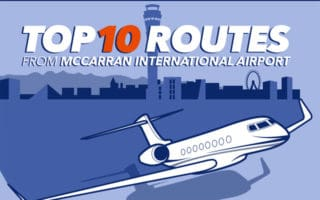 Top 10 Private Jet Routes from McCarran International Airport