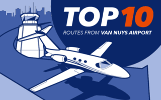 Top 10 Private Jet Routes from Van Nuys Airport