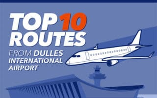 Top 10 Private Jet Routes from Dulles International Airport