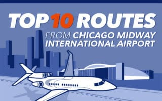 Top 10 private jet routes from Chicago Midway Airport