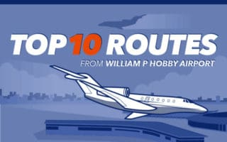 Top 10 Private Jet Routes from KHOU