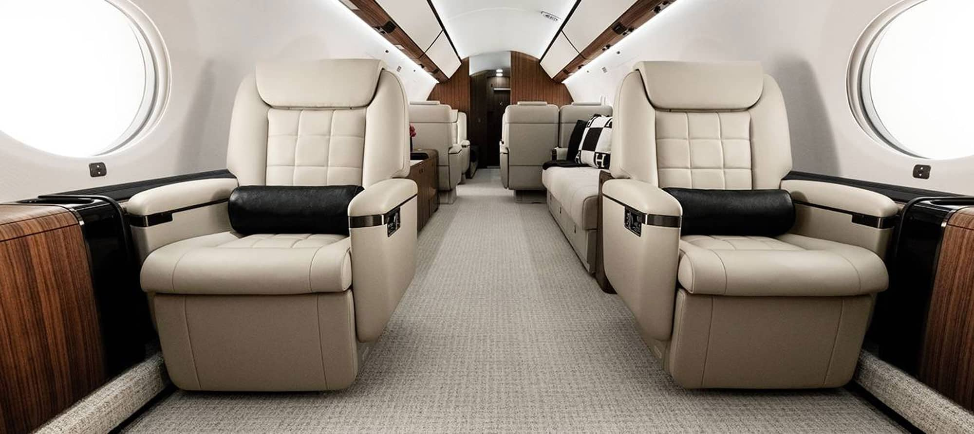 Interior of the Gulfstream G650ER