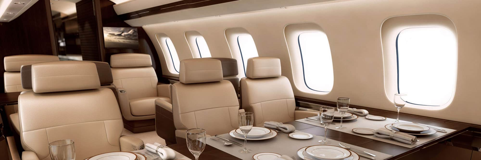 Interior of the Global 7500 Business Jet