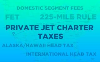 Private Jet Charter Taxes in the USA