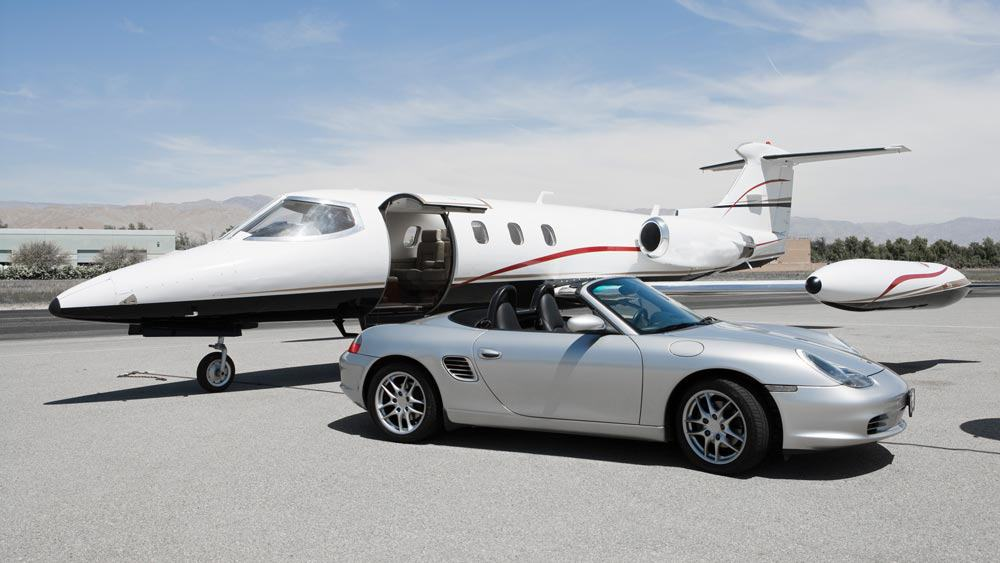 Drive up to your jet