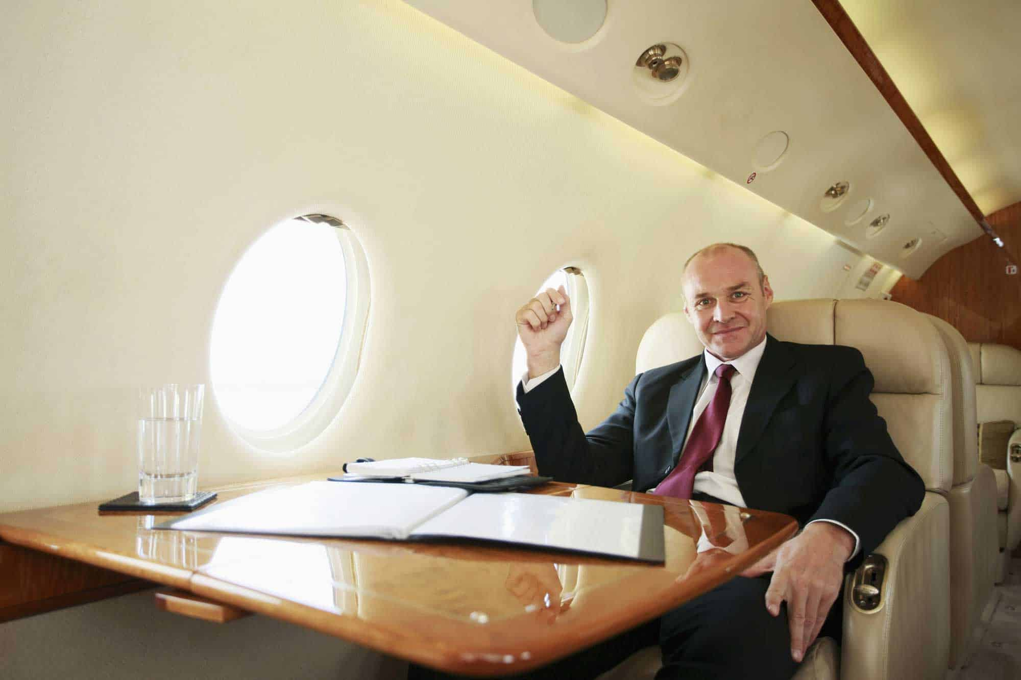 Executive on Jet Working