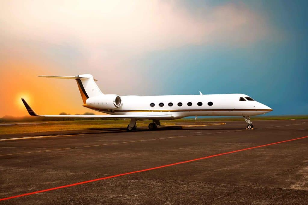 Gulfstream jet on runway