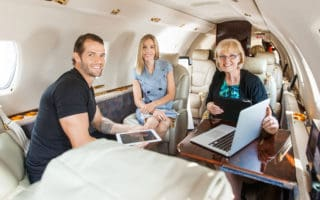 Family Reunion on Private Jet