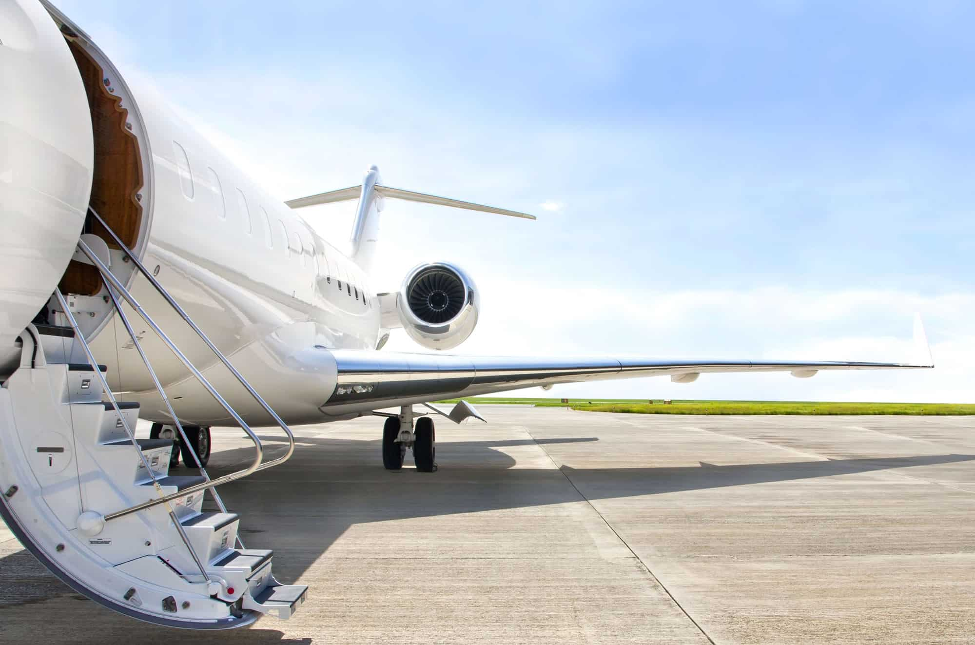 Private jet times are flexible