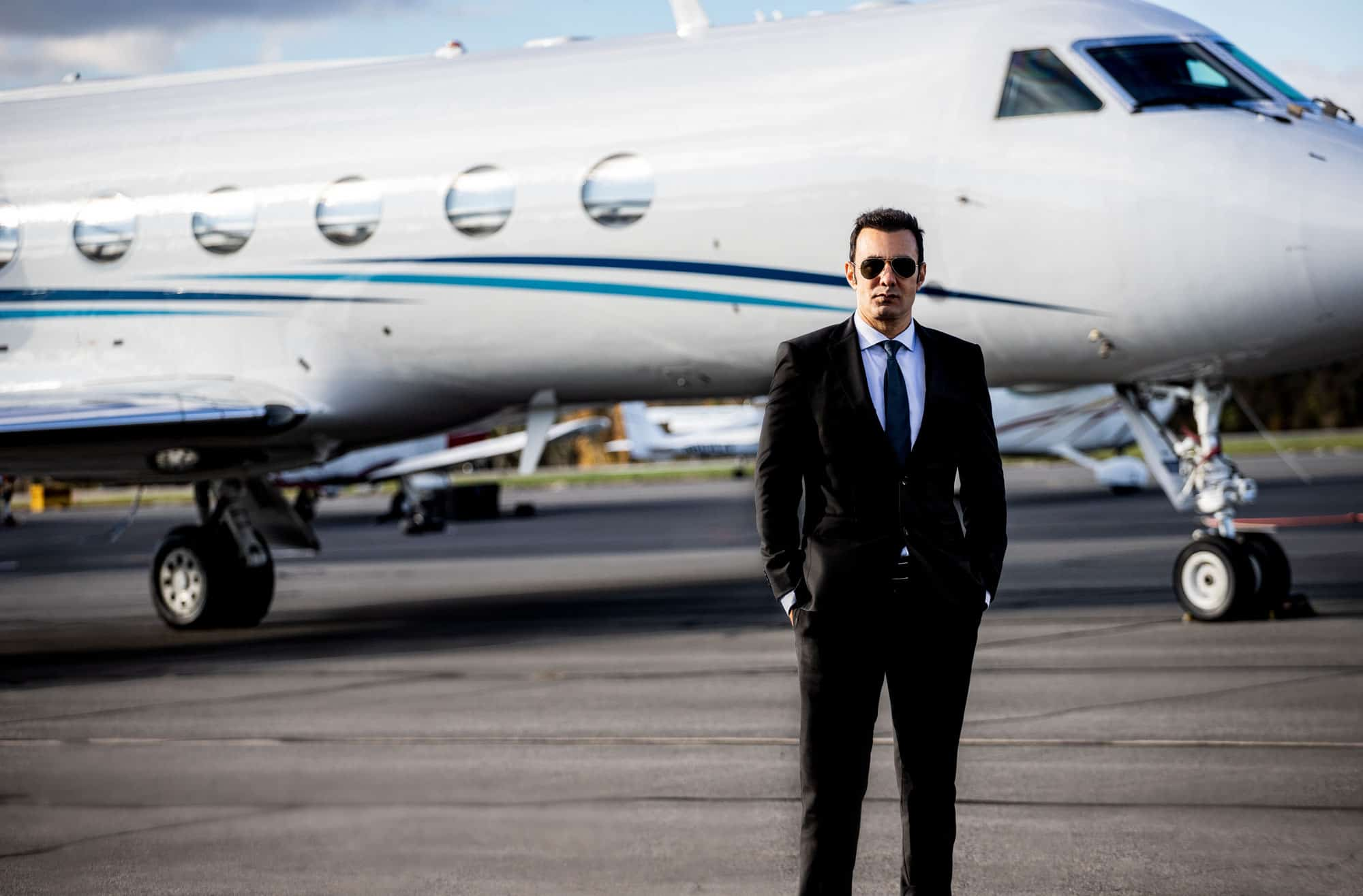 Richard Zaher in front of a Jet