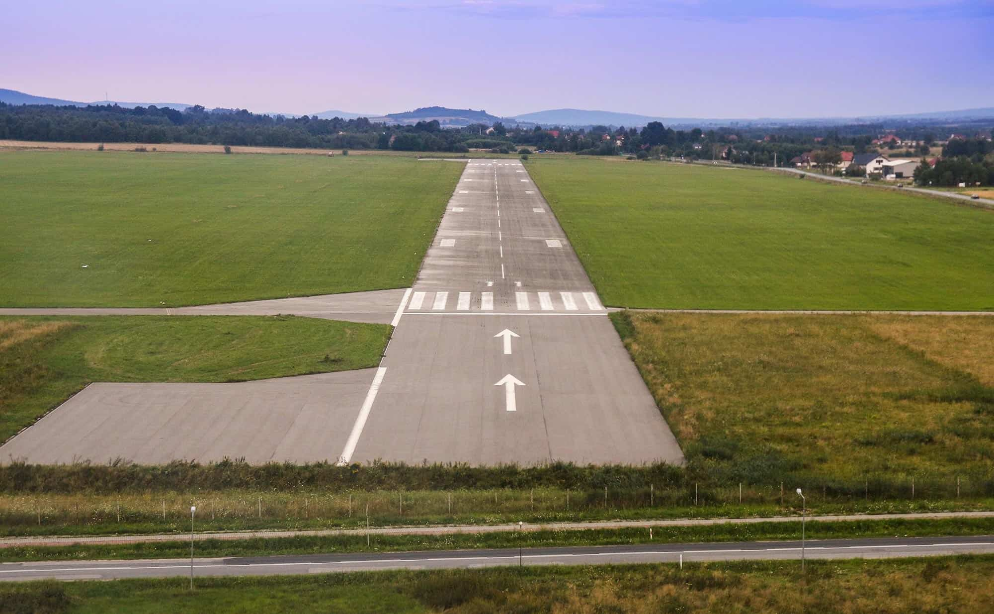 Private Jet Airport Runway