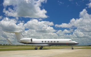 Gulfstream Jet on Tarmac