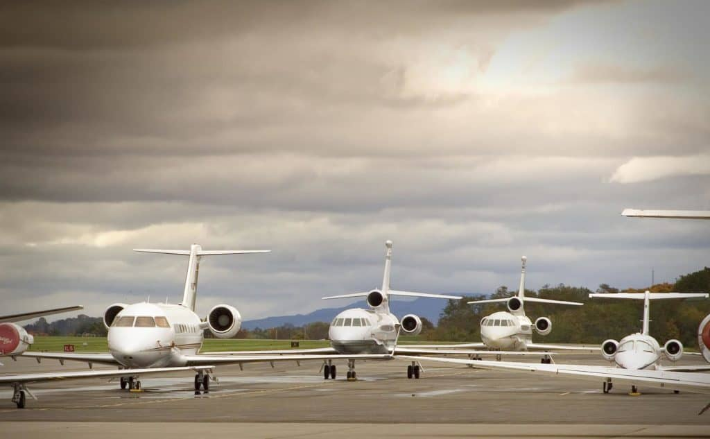 Private jets in bad weather