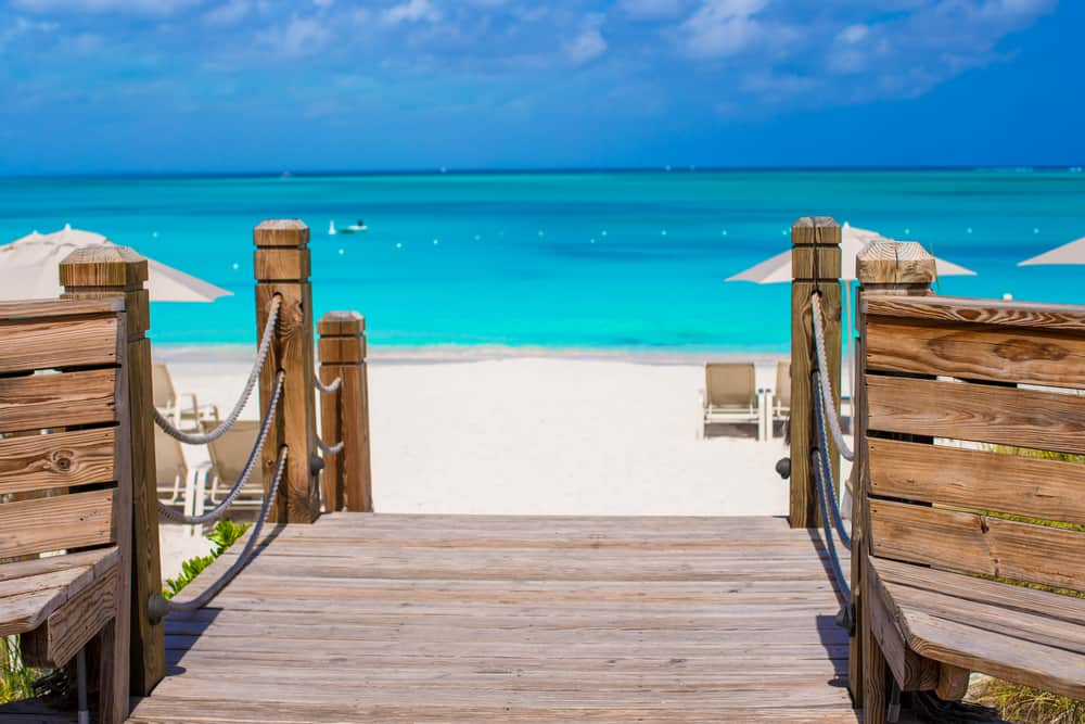 A beautiful beach from Grand Turk - the Turks and Caicos