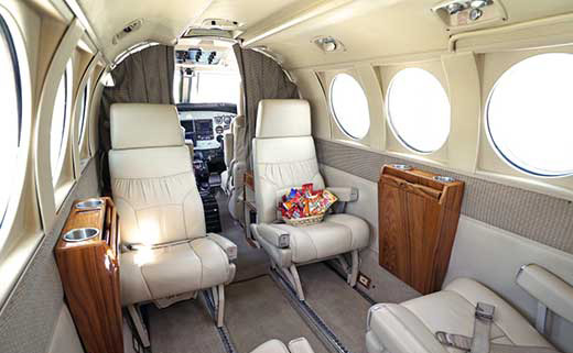 King Air C90 Interior