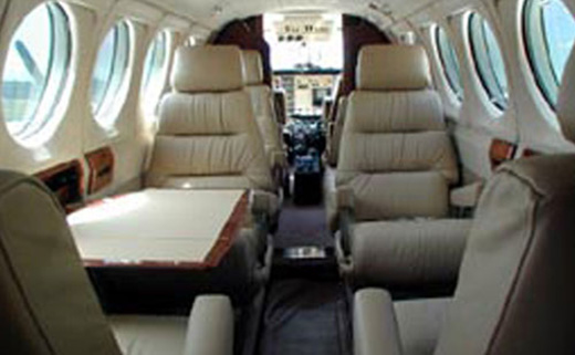 King Air 100 Interior