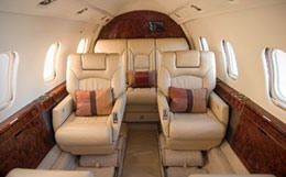Learjet 55B Interior