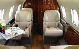 Learjet 55C Interior