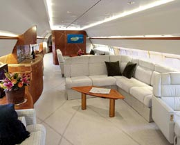 Boeing Business Jet Interior