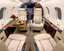 Learjet 40XR Interior