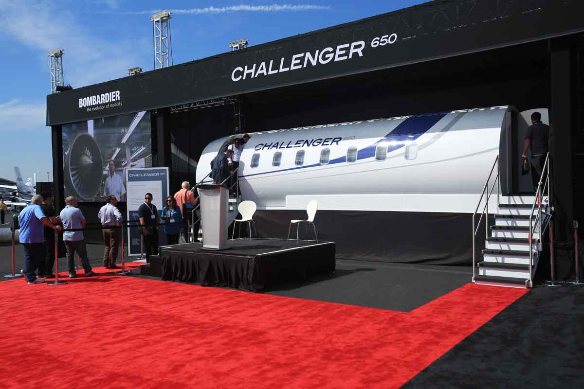 NBAA Challenger 650 Booth Display