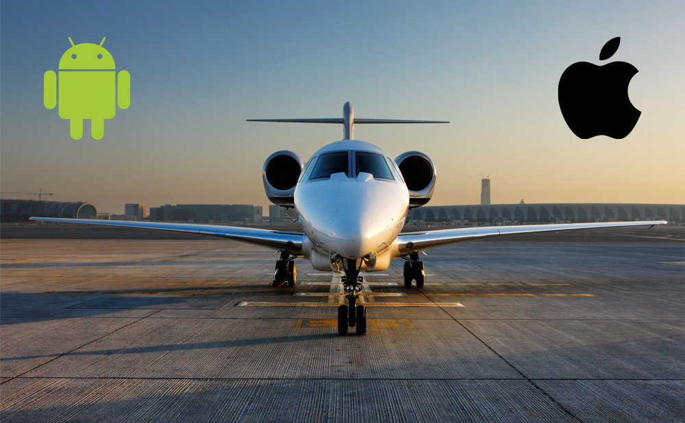 iOS vs. Android for Private Jet Flyers