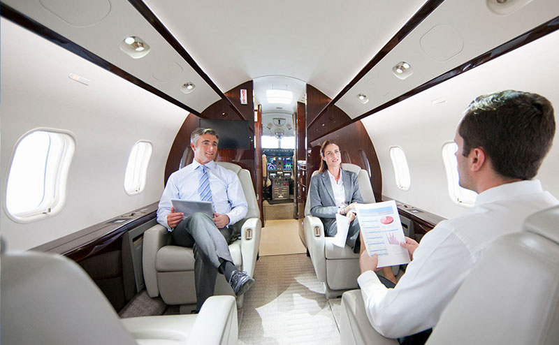 Executives In Jet
